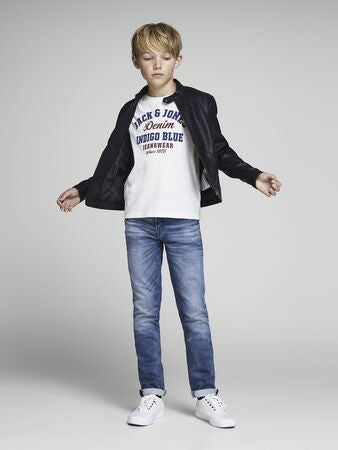 Jack & Jones Crewneck T-Paita, Cloud Dancer