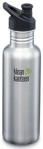 Klean Kanteen Classic Sports Cap Juomapullo  800 ml, Brushed Stainless