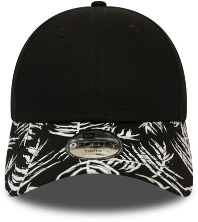 New Era Palm Print 9FORTY KIDS NE Lippalakki, Black
