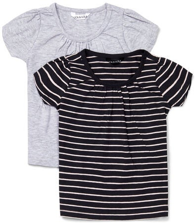 Luca & Lola Edda Paidat 2-pack, Black/Stripes