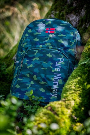 Pure Norway Free Waterproof Reppu, Camouflage Vihreä