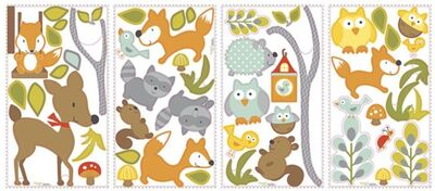 RoomMates Wallstickers Woodland Friends