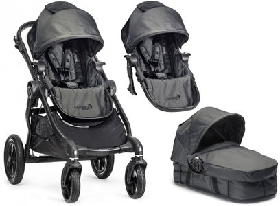 Baby Jogger City Select Sisarusrattaat, Charcoal + Vaunukoppa