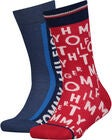 Tommy Hilfiger Loose Letters Sukat 2-pack, Red/Blue