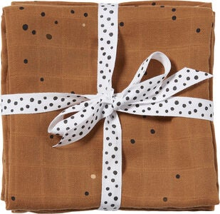 Done By Deer Kapalointiliinat Dreamy Dots 120x120 2-pack, Mustard