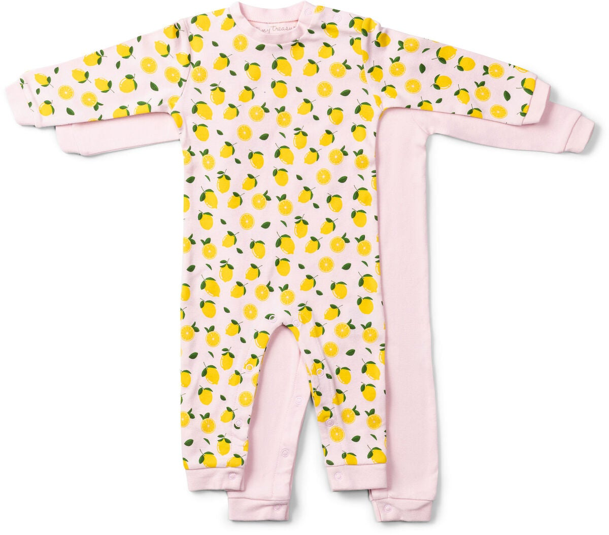 Tiny Treasure Maxime Jumpsuitit 2-pack, Pink