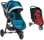 Baby Jogger City Mini GT Lastenrattaat + Sadesuoja, Steel Blue/Grey