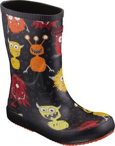Viking Classic Indie Monsters Kumisaappaat, Black/Orange