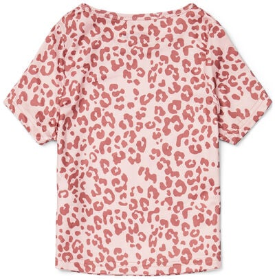 Hyperfied Short Sleeve Logo Top, Pink Leo