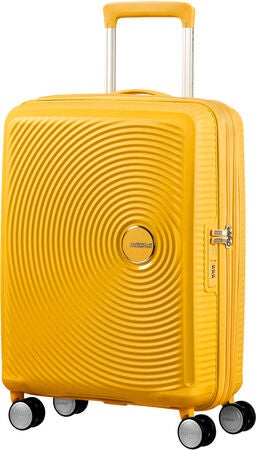 American Tourister Soundbox Spinner Matkalaukku 35.5L, Golden Yellow