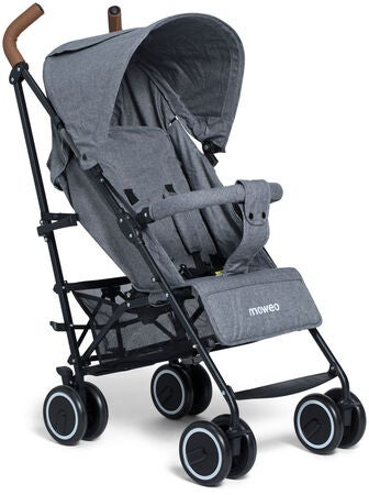 Moweo Civi Sateenvarjorattaat, Grey/Black