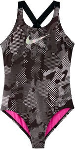 Nike Swim Optic Camo Crossback Uimapuku, Black