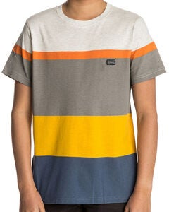 Rip Curl Edge Striped SS Tee T-paita, White Marle