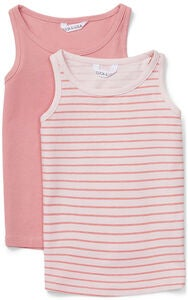 Luca & Lola Jemma Topit 2-pack, Pink/Stripes