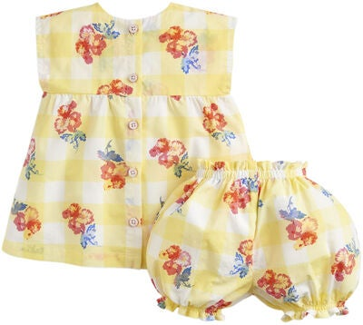 Tom Joule Toppi & Shortsit, Yellow Gingham Floral