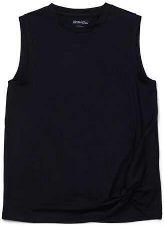 Hyperfied Jersey Knot Tank Top, Anthracite