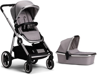 Beemoo Twin Travel+ 2019 Yhdistelmävaunut, Light Grey