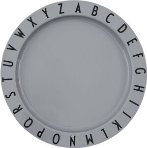 Design Letters Eat & Learn Lautanen Tritan, Cool Grey