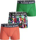Björn Borg Geo Flag Sammy Bokserit 3-pack, Mint Leaf