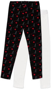 Luca & Lola Venetia Leggingsit 2-pack, Black/Red