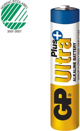 GP Ultra Plus Alkaline AAA LR03 10-pack