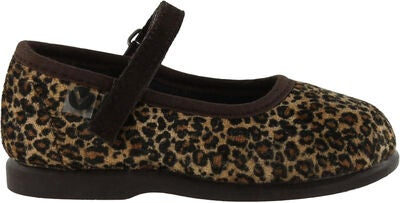 Victoria Mercedes Leopardo Ballerinat, Brown