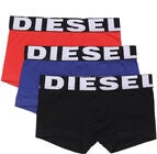 Diesel UMBX Shawn Bokserit 3-Pack, Black/Bluette/Red