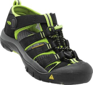 KEEN Newport H2 Little Kids Sandaalit, Black/Lime Green