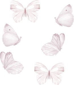 That's Mine Sisustustarra Butterfly 6-pack, White