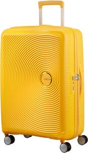 American Tourister Soundbox Spinner Matkalaukku 71.5L, Golden Yellow