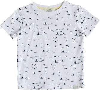 Ebbe Hunter T-Paita, Small Navy Boat Print