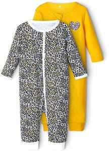 Name it Animal Jumpsuit 2-Pack, Golden Rod