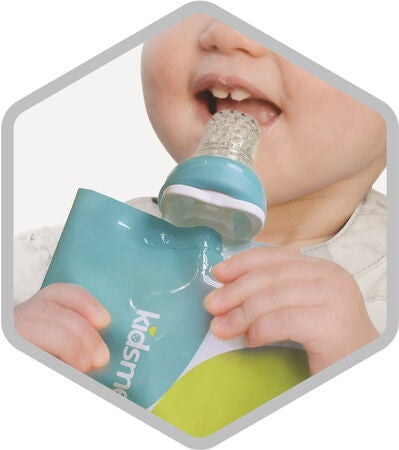 Kidsme Reuseable Food Pouch Sosepussit, 4x180ml