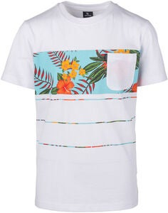 Rip Curl Squad Block T-Paita, Optical White