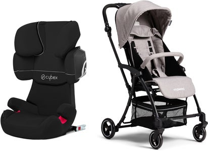 Cybex Solution X2-Fix Silver Line Turvavyöistuin + Moweo Turn Light Lastenrattaat, Grey