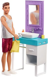 Barbie Nukke Ken Shaving Bathroom