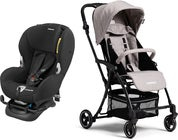 Maxi-Cosi Mobi XP Turvaistuin, Night Black + Moweo Turn Light Lastenrattaat, Grey