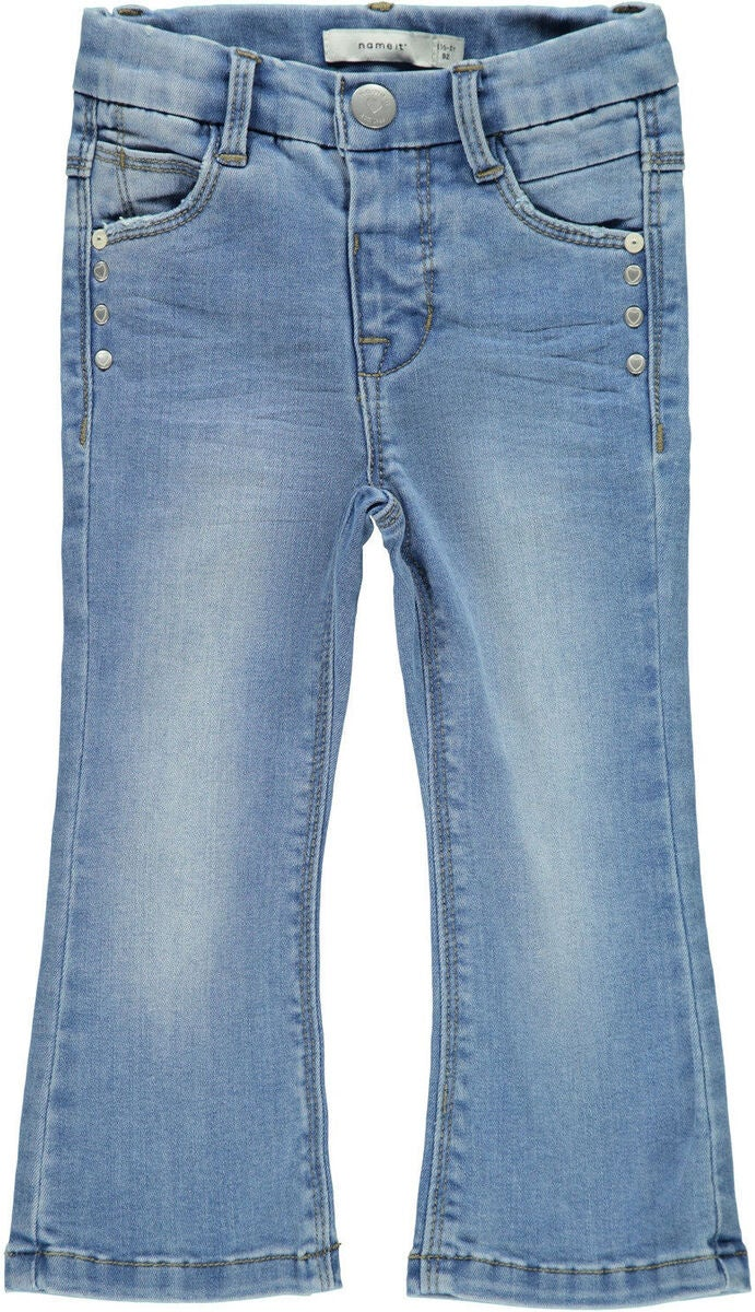 Name it Polly Bootcut Farkut, Light Blue Denim