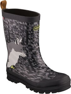 Viking Jolly Big Fox Kumisaappaat, Black/Multi