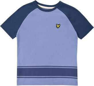 Lyle & Scott Junior Ringer Raglan T-paita, Mid Blue
