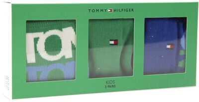 Tommy Hilfiger Kids Giftbox Sukat 3-pack, Blue/Green