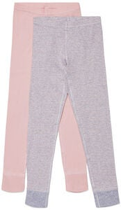 Luca & Lola Toto Kalsarit 2-pack, Pink/Stripes