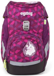 Ergobag Prime Reppu Night CrawlBear 20L, Flower Wheel Purple
