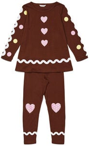 Luca & Lola Tunika & Housut Gingerbread, Brown