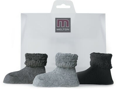 Melton Terry Sukat 4-Pack, Light Grey Melange