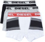 Diesel Ussy Alushousut, White Printed /Black/Light Grey Melange