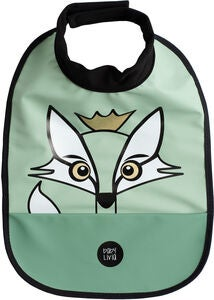 babyLivia Ruokalappu Fox, Powder Green