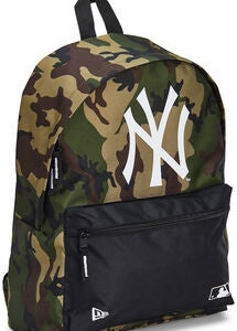 New Era MLB NYY Reppu 16L, Woodland Camo/Black