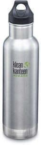Klean Kanteen Insulated Classic Loop Cap Termospullo 592 ml, Brushed Stainless
