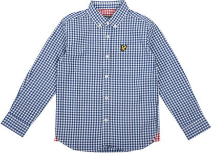 Lyle & Scott Junior Gingham Check Kauluspaita, True Blue